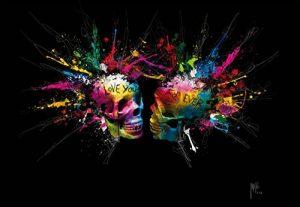 1Mur Patrice Murciano crânes colorés à Coller au Mur Papier Peint Non tissé, Bois, Multicolore, 3,6x 2,53M de la marque 1-Wall image 0 produit
