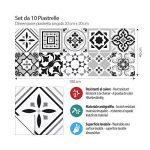 10 Pieces 20x20 cm - PS00096 Adhésive décorative à Carreaux pour Salle de Bains et Cuisine Stickers carrelage - Made in Italy - Stickers Design de la marque kina image 1 produit