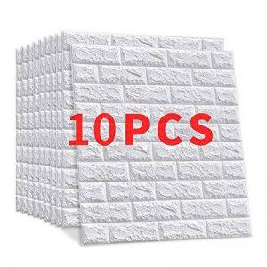 """10 Pieces PE mousse 3D brique de pierre Win-Y DIY Auto-Adhésif Autocollants Imperméable Papier Stickers muraux Autocollants Décor mur Stickers carrelage gaufrée Wall Stickers 23.6""""x23.6"""" de la marque Win-Y image 0 produit"""