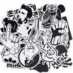 100 autocollants stickers Noir et Blanc fun pour smartphone, auto, ordinateur, casque, skate de la marque France en Stock image 1 produit