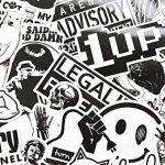 100pcs Autocollants Noir et Blanc Vinyle pour Ordinateur Portable, Voitures, Moto, Bicyclette, Bagages Skateboard, Autocollants pour Voiture Stickers Hippie Bombe Étanche de la marque StickerFactory image 2 produit