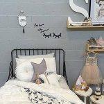 2 paires de cils en bois - Décoration murale pour chambre d'enfant, chambre de bébé (dorés et noirs) de la marque HAKACC image 4 produit