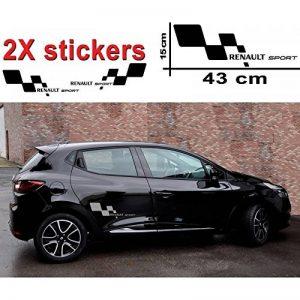 2 Stickers Autocollant RENAULT SPORT modèle DAMIER couleur GRIS Qualité Qualité Premium + 2 stickers MXSPIRIT offert - MARKETPLACE AVENUE de la marque MXSPIRIT image 0 produit
