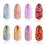 216 Pièces 3D Nail Art Sticker Fleur aArgent et Fleur Or Nail Stickers Autocollants pour Décorations D'Ongles, 2 Feuilles de la marque Mudder image 1 produit