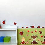 23 pièces Coccinelle Fille Sticker mural pour chambre de Chambre de bébé, multicolore, 2x 16x26cm de la marque Samunshi image 1 produit