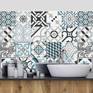 (24 Pieces) carrelage adhésif 20x20 cm - PS00054 - Oslo - Adhésive décorative à Carreaux pour Salle de Bains et Cuisine Stickers carrelage - Collage des tuiles adhésives de la marque wall-art image 0 produit