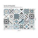(24 Pieces) carrelage adhésif 20x20 cm - PS00054 - Oslo - Adhésive décorative à Carreaux pour Salle de Bains et Cuisine Stickers carrelage - Collage des tuiles adhésives de la marque wall-art image 2 produit