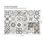 (24 Pieces) carrelage adhésif 20x20 cm - PS00089 - Braga - Adhésive décorative à Carreaux pour Salle de Bains et Cuisine Stickers carrelage - Collage des tuiles adhésives de la marque wall-art image 2 produit