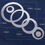 24pcs 3D Cercle Sticker Mural Miroir Autocollant en Taille Différente Decoration Muale de la Maion Effet Mirroir (4pcs par chaque taille) de la marque DEOMOR image 1 produit