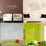 24pcs 3D Cercle Sticker Mural Miroir Autocollant en Taille Différente Decoration Muale de la Maion Effet Mirroir (4pcs par chaque taille) de la marque DEOMOR image 3 produit