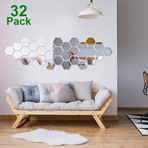 32 Pièces Miroir Acrylique Amovible Sticker Mural Décalque Décoration de la Maison (Style 2) de la marque Shappy image 0 produit