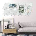 32 Pièces Miroir Acrylique Amovible Sticker Mural Décalque Décoration de la Maison (Style 2) de la marque Shappy image 4 produit