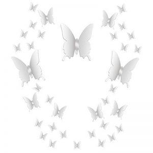 36 Pièces DIY Miroir Papillon Combination 3D Autocollants Muraux Miroir Stickers Décoration de la Maison de la marque BBTO image 0 produit