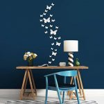 36 Pièces DIY Miroir Papillon Combination 3D Autocollants Muraux Miroir Stickers Décoration de la Maison de la marque BBTO image 4 produit
