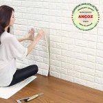 3D Imitation Brique Blanc Stickers Muraux,DIY Papier Peint Décoratif Auto-Adhésif Imperméable 60x60 (10 PCS) de la marque Ancoz image 3 produit