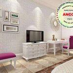 3D Imitation Brique Blanc Stickers Muraux,DIY Papier Peint Décoratif Auto-Adhésif Imperméable 60x60 (20 PCS) de la marque Ancoz image 2 produit