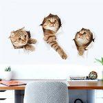 3D Stickers Muraux Autocollant En PVC Motif Chat Adhésif Décor 3D de chat de bande dessinée Pour Chambre Salon Maison Bureau Salle de la marque Hoovo image 1 produit