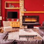45cmx10M Imperméable Papier Peint Auto-Adhésif Trompe l'oeil Stickers Autocollant Muraux Décoration Murale pour Chambre Salon Meuble, Rouge de la marque JUNXAVE image 2 produit