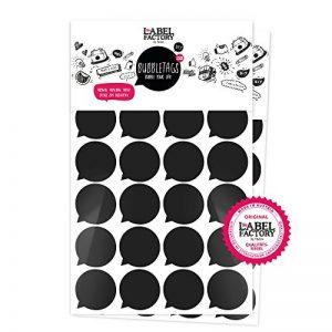 48Bubble Tags Autocollants | info-bulles, Bubble Sticker, cadeaux & bons d'achat pour beschriften a4 noir de la marque the-Label-Factory-by-favlov image 0 produit