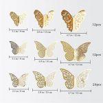 48 pièces 3D Papillon Stickers muraux Art Autocollant Décorations de Salle de Home Decor Doré(Or) de la marque Creatiees image 1 produit