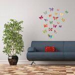 50x Papillons, Stickers muraux, sticker de fenêtre, fenêtre Papillons, windowsticker, Stickers muraux, autocollants, photos de 50autocollants, sur une surface totale de 101,5x 21cm de la marque EAST-WEST-Trading-GmbH image 2 produit
