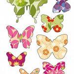 50x Papillons, Stickers muraux, sticker de fenêtre, fenêtre Papillons, windowsticker, Stickers muraux, autocollants, photos de 50autocollants, sur une surface totale de 101,5x 21cm de la marque EAST-WEST-Trading-GmbH image 3 produit