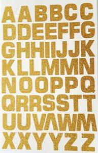 52lettres/numéros autocollants Glitterati en or pailleté de la marque Glitterati image 0 produit