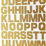 52lettres/numéros autocollants Glitterati en or pailleté de la marque Glitterati image 1 produit
