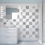 60 Stickers adhésifs carrelages | Sticker Autocollant Carrelage - Mosaïque carrelage mural salle de bain et cuisine | Carrelage adhésif - nuance de gris élégants - 10 x 10 cm - 60 pièces de la marque Ambiance-Live image 1 produit