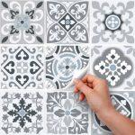 (72 Pieces) carrelage adhésif 10x10 cm - PS00094 - Medina - Adhésive décorative à Carreaux pour Salle de Bains et Cuisine Stickers carrelage - Collage des tuiles adhésives de la marque wall-art image 1 produit