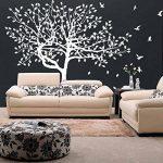 80 x 58 cm et Grand Sticker Mural en vinyle Arbre, oiseaux et feuilles de tomber & Nature Art Home Decor Sticker Mural amovible en vinyle libre cadeau aléatoire de la marque Slaf-Ltd image 1 produit