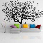 80 x 58 cm et Grand Sticker Mural en vinyle Arbre, oiseaux et feuilles de tomber & Nature Art Home Decor Sticker Mural amovible en vinyle libre cadeau aléatoire de la marque Slaf-Ltd image 2 produit
