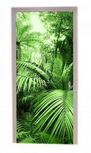 A.Monamour Stickers Muraux Palmier Tropical Feuille Vert Forêt Sauvage Jungle Nature Paysages Tirage Vinyle Salle Porte Stickers Papier Peint Peintures Murales De Porte Autocollants Affiches de la marque A-Monamour image 0 produit