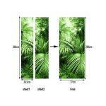 A.Monamour Stickers Muraux Palmier Tropical Feuille Vert Forêt Sauvage Jungle Nature Paysages Tirage Vinyle Salle Porte Stickers Papier Peint Peintures Murales De Porte Autocollants Affiches de la marque A-Monamour image 2 produit