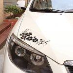 ACBungji Stickers autocollants fleur d'hibiscus voiture pare-chocs frigo mur porte (Noir #2) de la marque ACBungji image 2 produit