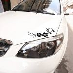 ACBungji Stickers autocollants fleur d'hibiscus voiture pare-chocs frigo mur porte (Noir #2) de la marque ACBungji image 3 produit