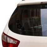 ACBungji Stickers autocollants fleur d'hibiscus voiture pare-chocs frigo mur porte (Noir #2) de la marque ACBungji image 4 produit