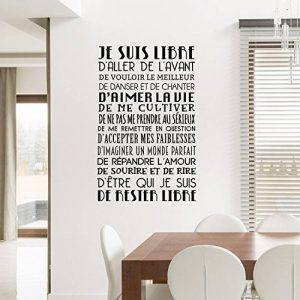 """Adesiviamo® """"Je suis Libre"""" Wall Sticker Sticker Murale de la marque Adesiviamo image 0 produit"""