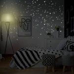 """Adhésifs muraux Wandkings """"250 pièces Points lumineux pour réaliser un ciel étoilé"""" Fluorescents & phosphorescents dans l'obscurité de la marque Wandkings-de image 2 produit"""