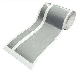 Aerzetix: Bande film sticker de toit capot coffre centre adhésif argent 10cm 4.5m pour tuning decoration auto voiture C17014 de la marque AERZETIX image 0 produit