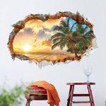 Aide à domicile Sticker mural Paysage de vacances Sticker amovible Maison Salon Décoration pour enfants de la marque Payonr image 4 produit