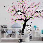AIYANG Cerisier mur Décalcomanie Panda mur Autocollants Stickers Muraux Pour la Chambre du bébé Chambres d'enfants (rose) de la marque AIYANG image 4 produit