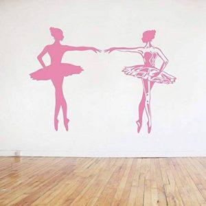 alicefen Danse Ballet Filles Sticker Mural Autocollant Mots pour Enfants Chambre d'enfants Salle de Danse Sites de Formation de Danse 57 * 57cm de la marque alicefen image 0 produit