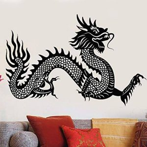 alicefen Vinyle Sticker Chinois Symbole De Dragon Autocollant Mural De Style Asiatique Fantasy Stickers Home Salon Dragon Mur Art Mural 57 * 87cm de la marque alicefen image 0 produit