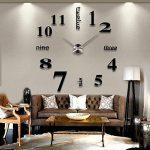Alicemall 3D DIY Pendule Murale Sticker Horloge Murale Noire Montre Murale Salon Chambre Bureau (Horloge Noir) de la marque Alicemall image 1 produit