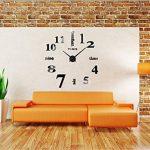 Alicemall 3D DIY Pendule Murale Sticker Horloge Murale Noire Montre Murale Salon Chambre Bureau (Horloge Noir) de la marque Alicemall image 2 produit