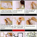 Alicemall Stickers Autocollants Muraux Amovibles 3D en Acrylique Arbre avec des Branches Incurvées et des Cadres de Photo et des Oiseaux (Arbre avec Feuilles Rouges) de la marque Alicemall image 4 produit