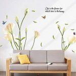Alicemall Stickers Muraux 3D Autocollants en PVC pour Décoration de la Maison (Fleur Blanc) de la marque Alicemall image 2 produit