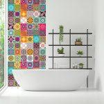 Ambiance-Live Carreaux de Ciment adhésif Mural - azulejos - 15 x 15 cm - 60 pièces de la marque Ambiance-Live image 2 produit