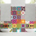 Ambiance-Live Carreaux de Ciment adhésif Mural - azulejos - 15 x 15 cm - 60 pièces de la marque Ambiance-Live image 3 produit